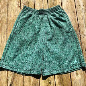 Air Jordan Green/Black Athletic Shorts-Sz XXL